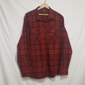 Oakley flannel button long sleeve shirt Xl